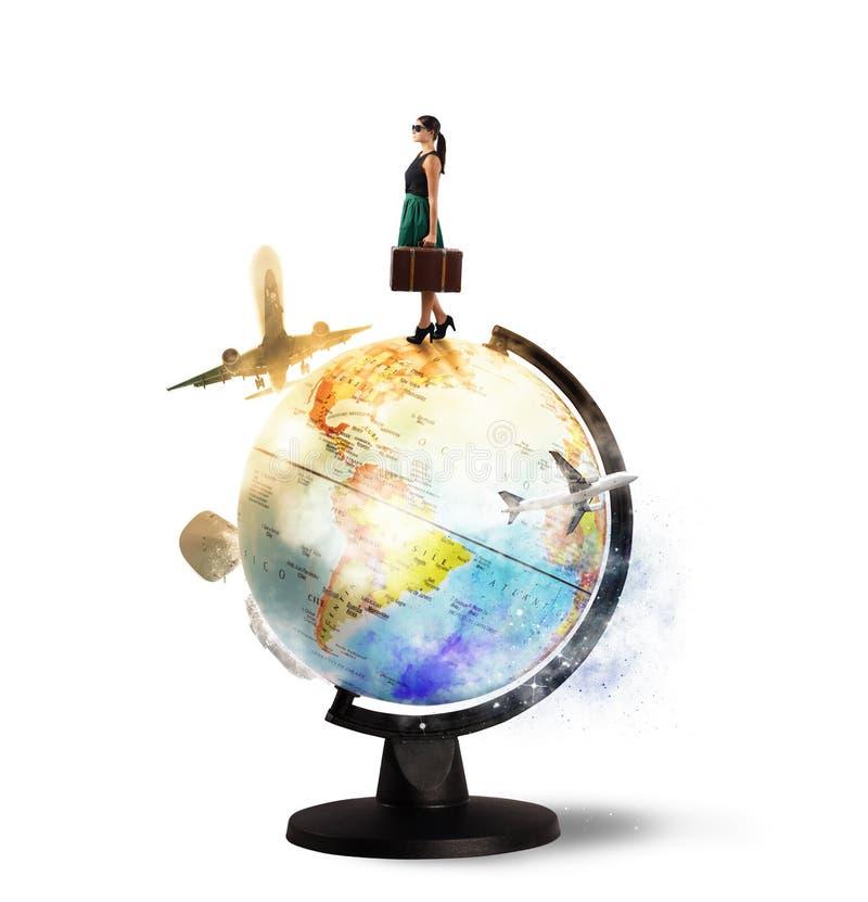 Auf der ganzen Welt sich drehen lizenzfreies stockbild