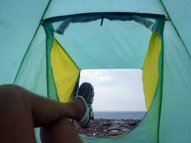 Auf der Schwarzmeerküste vor einem Gewitter lizenzfreie stockfotos