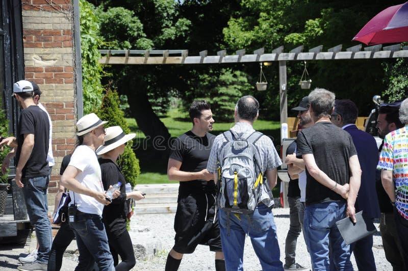 Auf der Standort ` Schitt-` s Nebenfluss ` Filmwiederholung, die kanadischen Schauspieler, Daniel Levy kennzeichnet stockfotografie