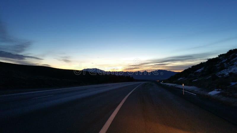 Auf der Straße nach Utah stockfotografie