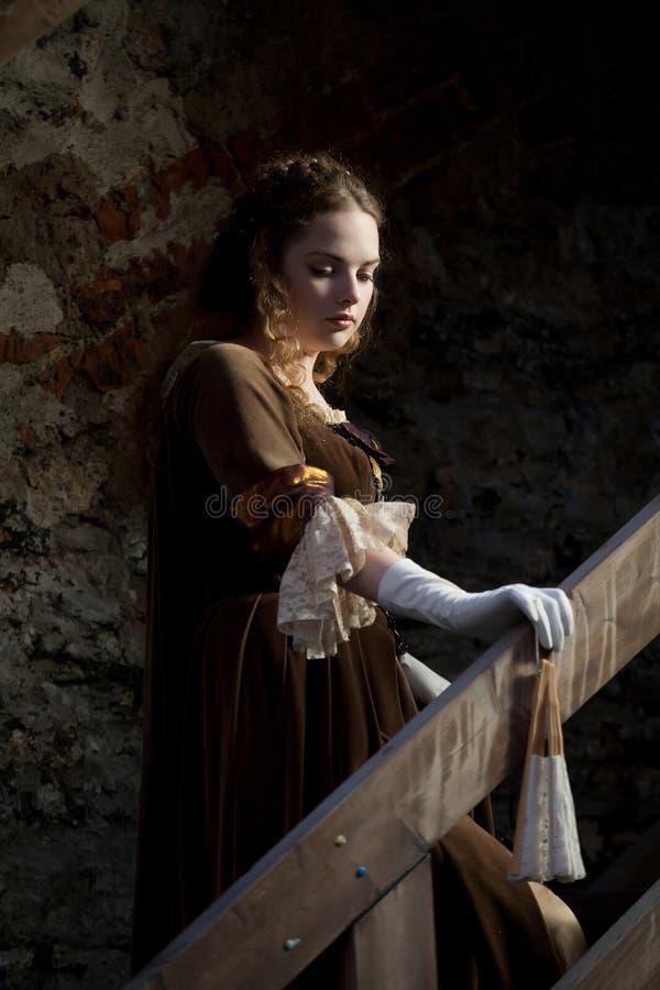 Auf der Treppe stockfoto