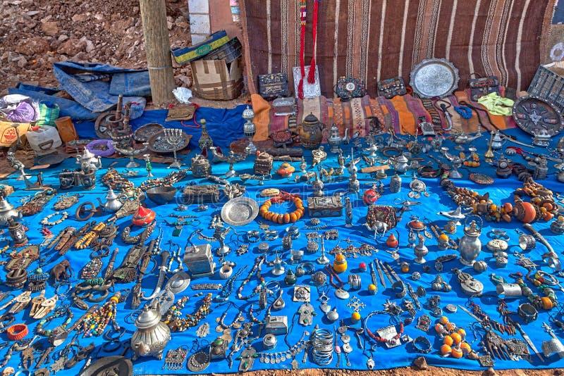 Auf einem Markt in einem kleinen Bergdorf nahe Agadir lizenzfreie stockbilder