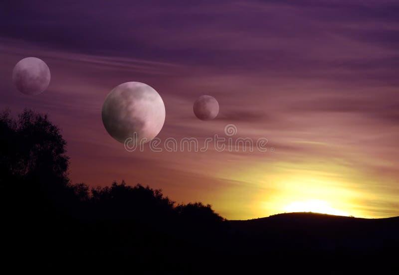 Auf einem Planeten weit entfernt stock abbildung