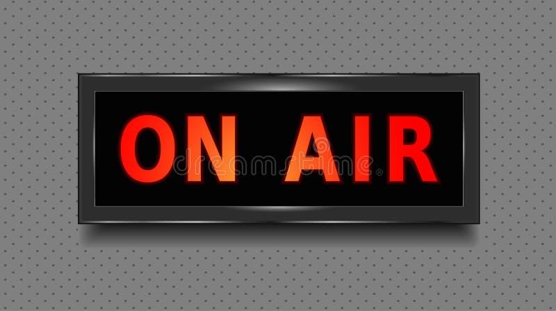 Auf Luftzeichen Tonstudio auf Luftleuchtkasten Abbildung Vektor stock abbildung