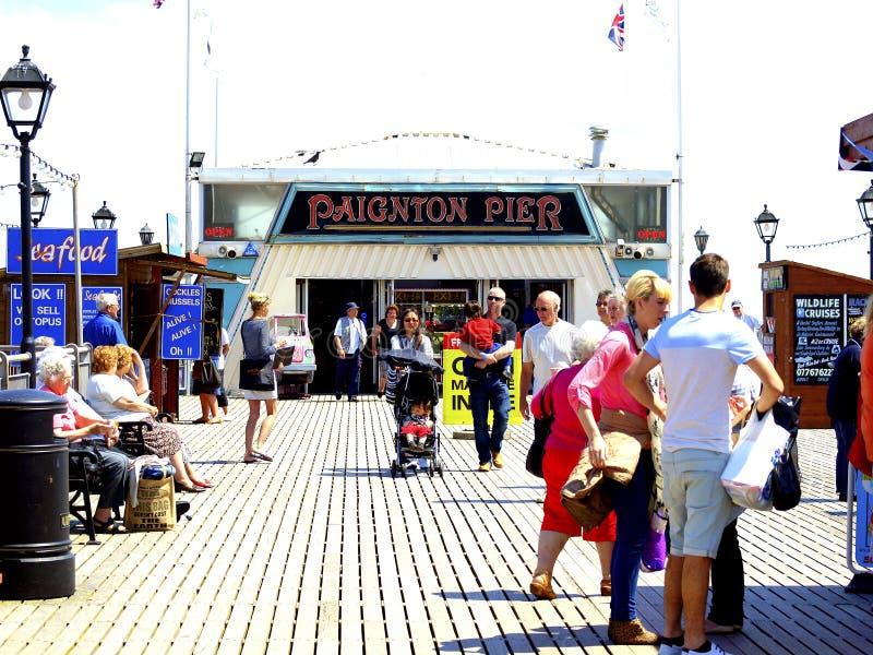 Auf Paignton-Pier Devon. lizenzfreies stockfoto
