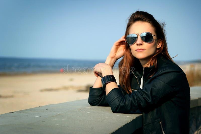 Auf Strand stockbild