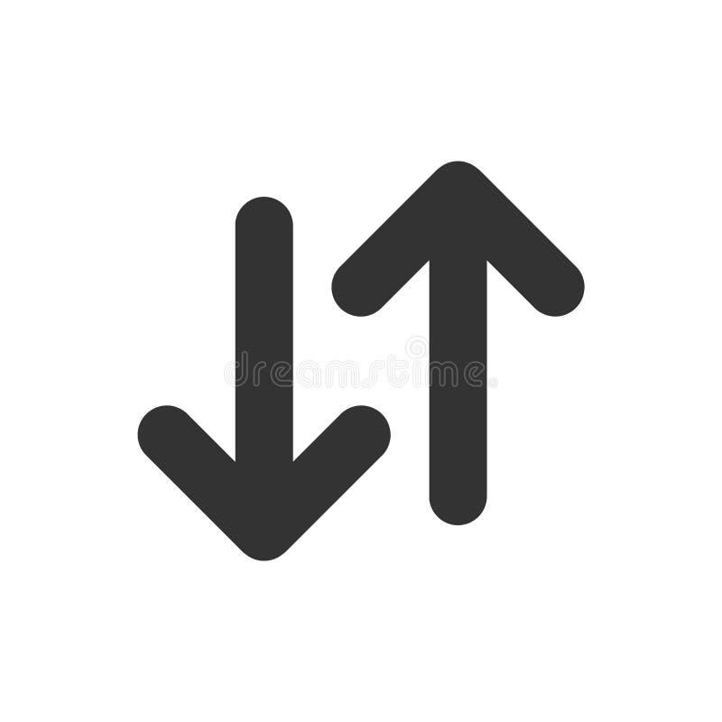 Auf und ab Pfeile vektor abbildung