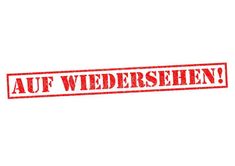 AUF WIEDERSEHEN! ilustração royalty free