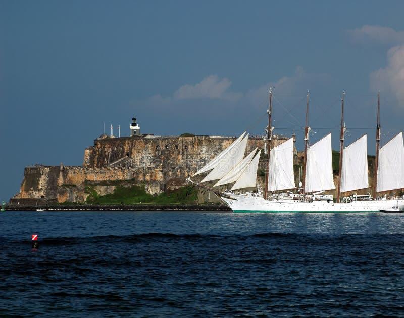 Auf Wiedersehen San Juan stockfoto