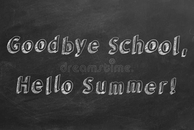 Auf Wiedersehen Schule, hallo Sommer lizenzfreie abbildung