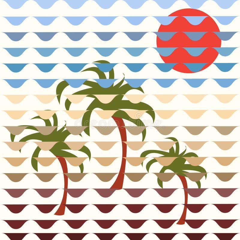 Auf Wiedersehen Sommer Sommer versteckt sich vektor abbildung