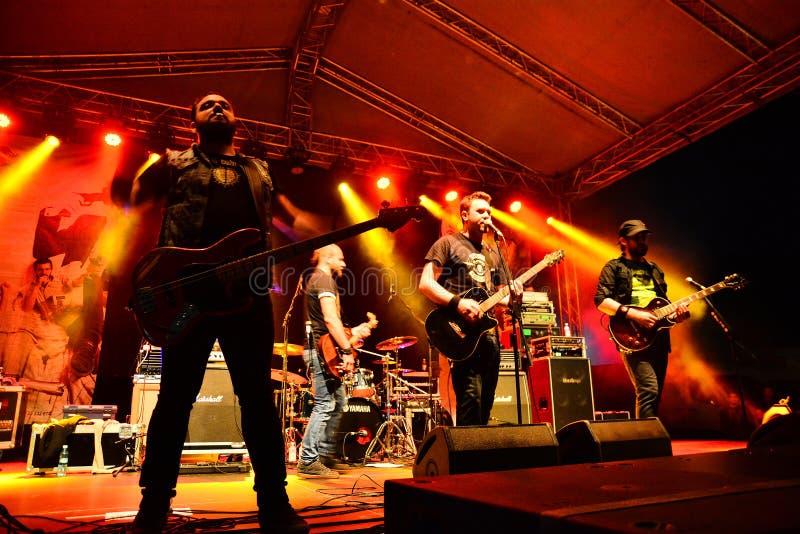 Auf Wiedersehen zum Schwerkraftrockband Live auf Stadium stockfotografie