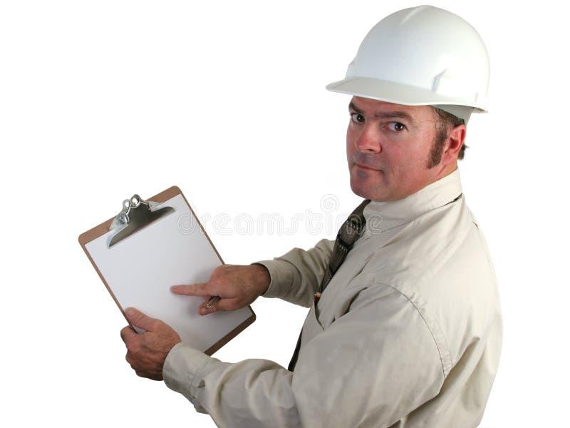 Aufbau-Überwachungsprogramm - beteiligt stockbild