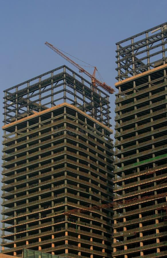 Aufbau in China stockfotografie