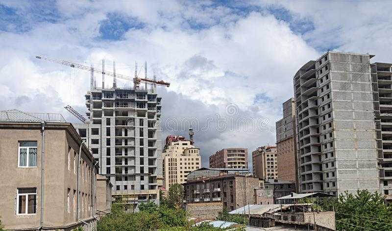 Aufbau der neuen hoher Gebäude stockfotografie