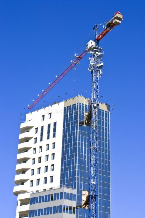 Aufbau des Geschäftsgebäudes stockbild