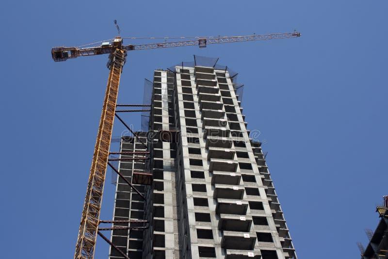 Aufbau des neuen Gebäudes lizenzfreies stockbild