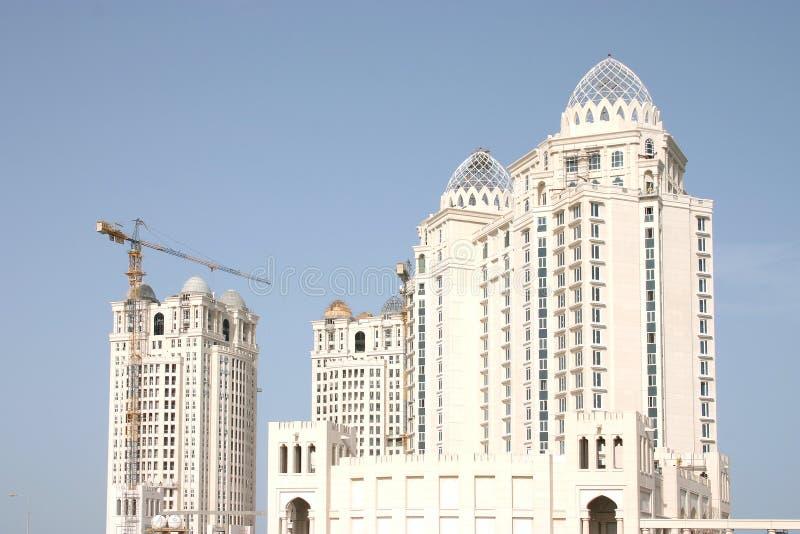 Download Aufbau des Traums stockfoto. Bild von doha, skyline, qatar - 32778