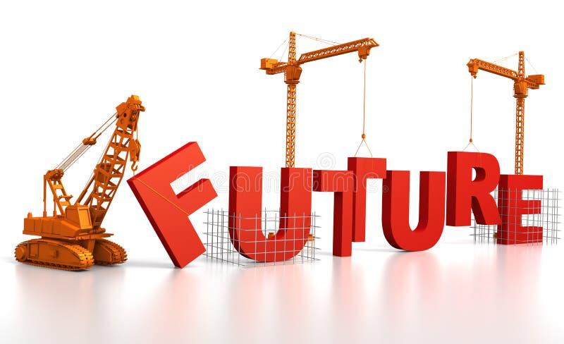 Aufbau einer Zukunft stock abbildung