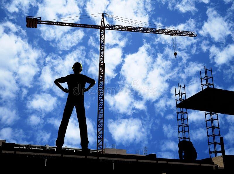 Aufbau eines Gebäudes stock abbildung