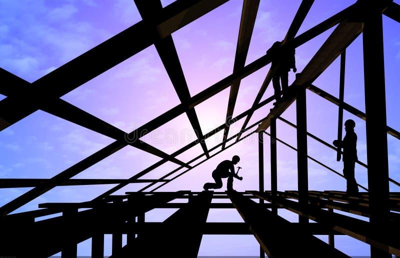 Aufbau eines Gebäudes lizenzfreie abbildung