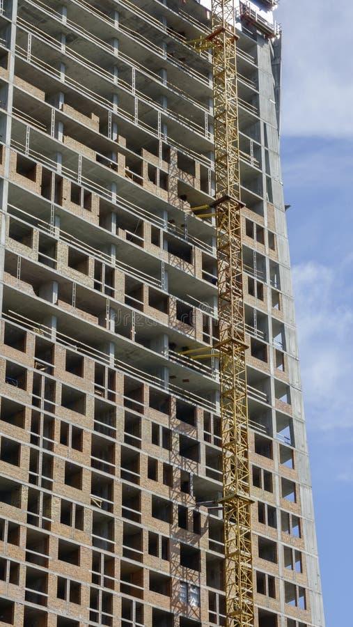 Aufbau eines modernen Gebäudes lizenzfreie stockbilder