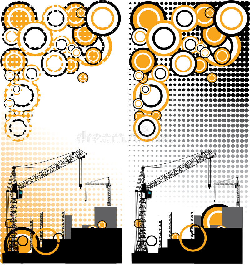 Download Aufbau Eines Neuen Hoch Gelegenen Gebäudes Vektor Abbildung - Illustration von konkret, schwarzes: 9076081