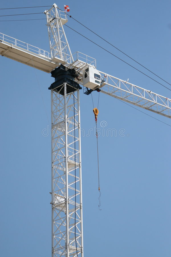 Aufbau-Kran-Kontrollturm lizenzfreies stockbild
