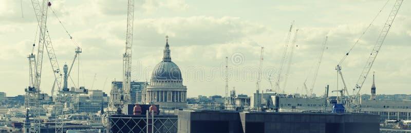 Aufbau in London lizenzfreies stockfoto