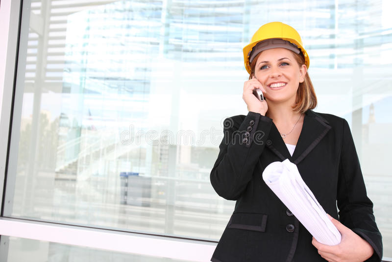 Aufbau-Manager-Frau stockbilder