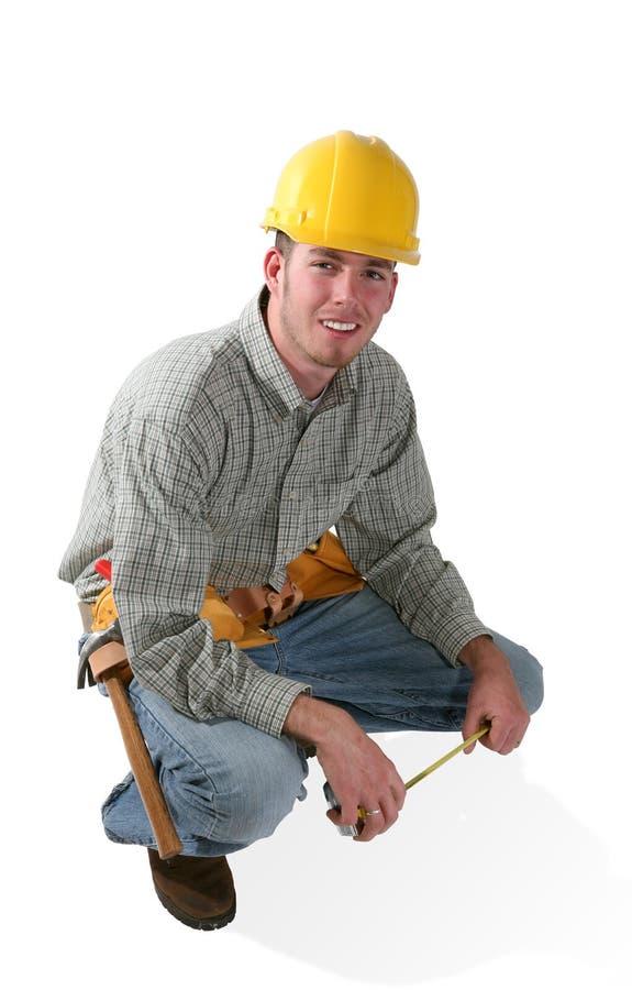 Aufbau-Mann stockfotografie