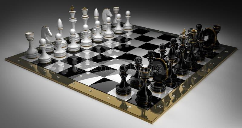 Schachspiel Aufbau