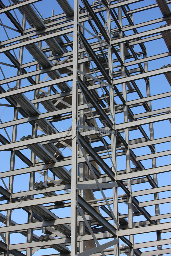 Aufbau-Stahlwerk stockfoto