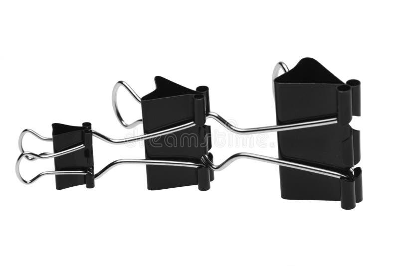 Aufbau von drei schwarzen Klipps lizenzfreies stockfoto