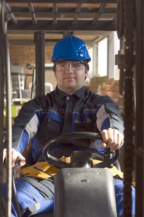 Aufbau workerer auf Arbeitsplatz lizenzfreies stockfoto