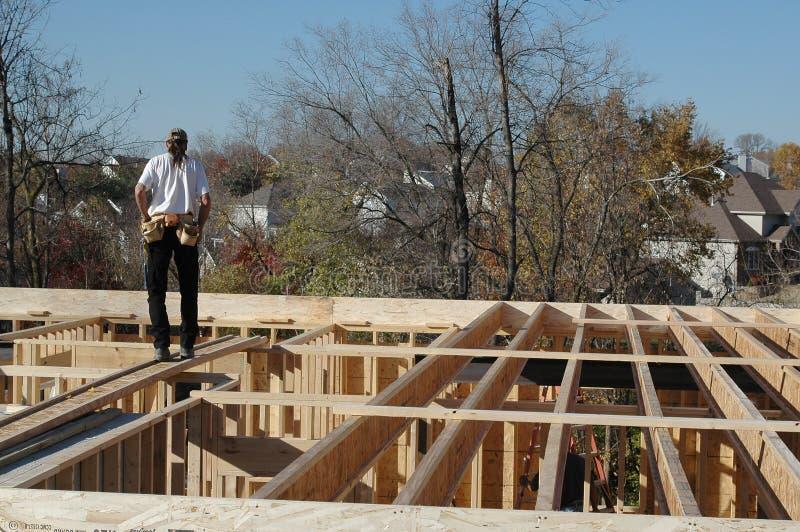 Aufbauerbauer auf Site stockbild