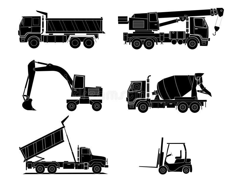 Aufbaumaschinen stock abbildung