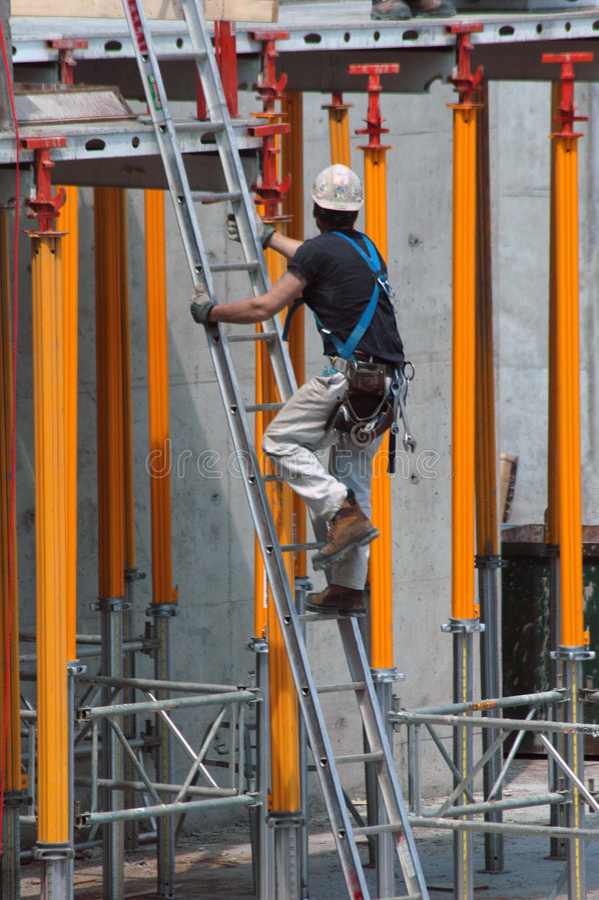 Aufbaustrichleiter stockfotos