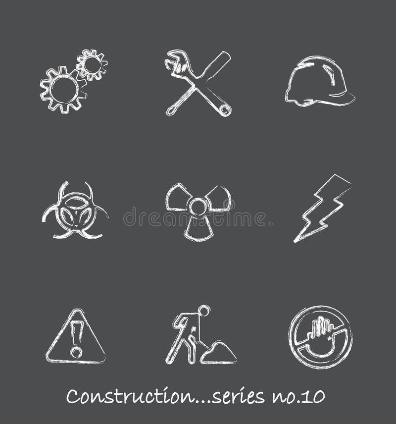 Aufbautafel-Ikonen? Serie no.10 lizenzfreie abbildung