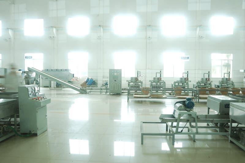 Aufbereitende Fabrik des grünen Tees stockfoto