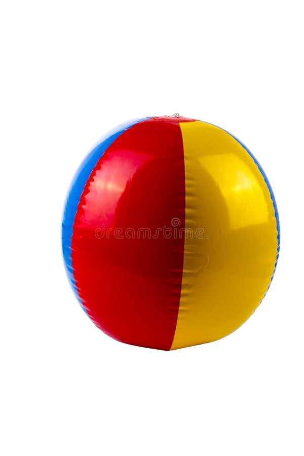 Aufblasbarer mehrfarbiger Ball stockbild