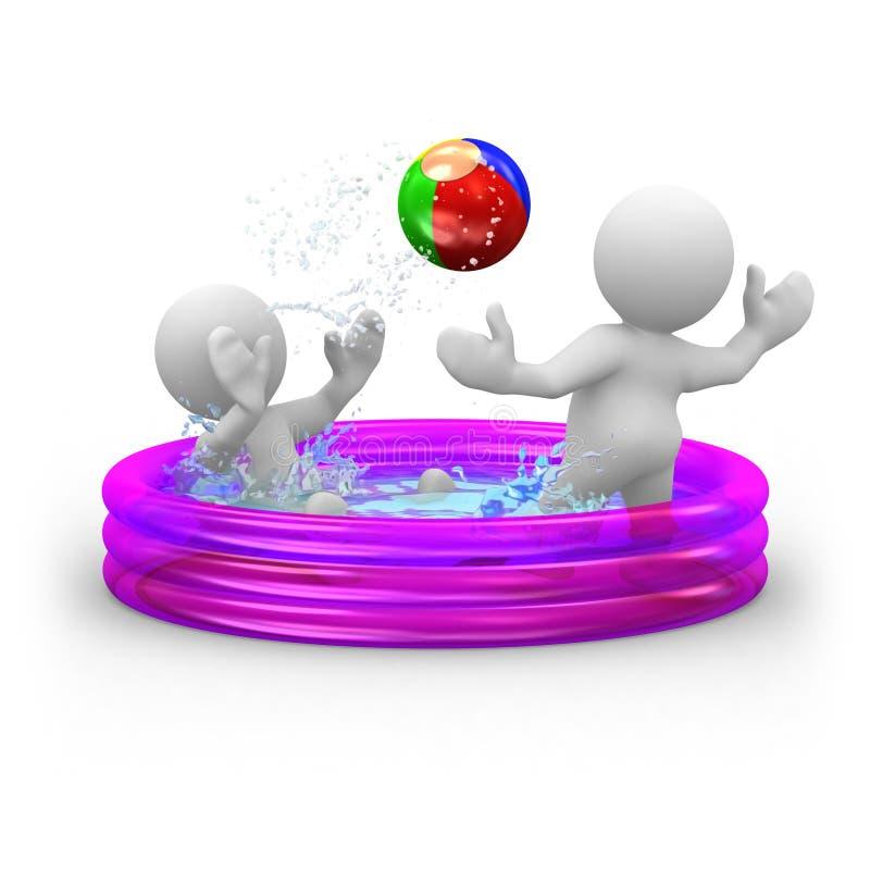 Aufblasbares Pool lizenzfreie abbildung