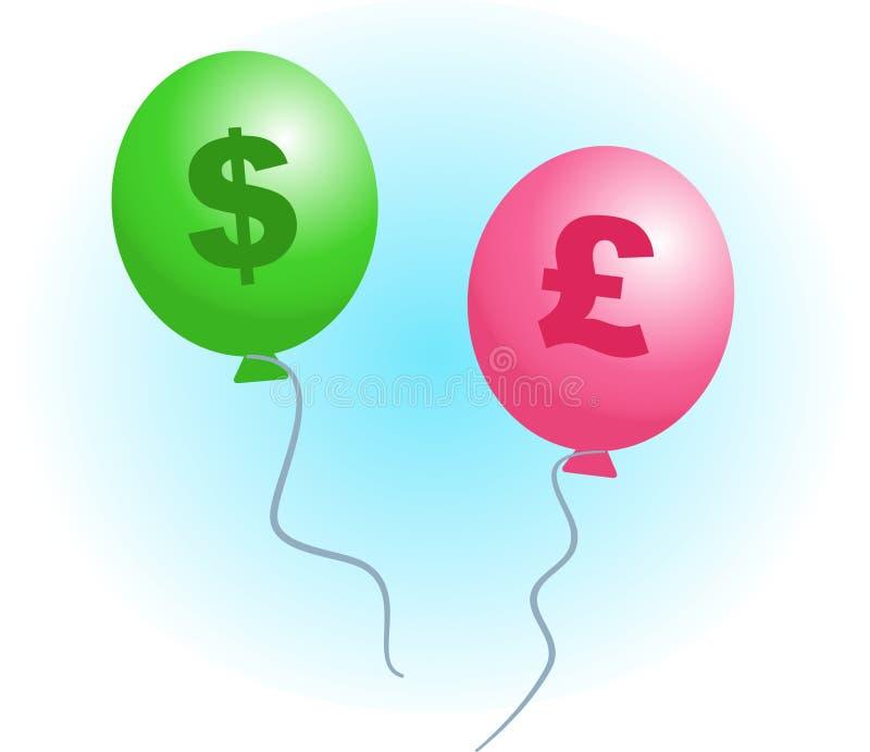 Download Aufblasen stock abbildung. Illustration von geld, groß, aufblasen - 33089