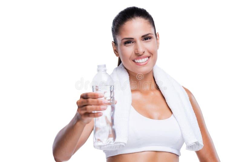 Aufenthalt kühl und hydratisiert! lizenzfreie stockfotos