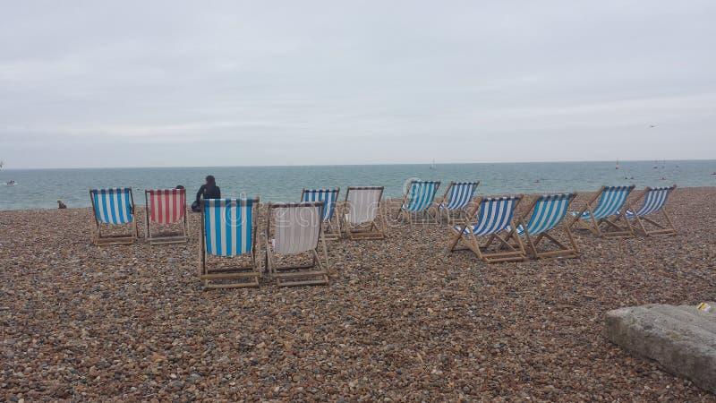 Aufenthaltsräume in Brighton-Strand lizenzfreies stockfoto