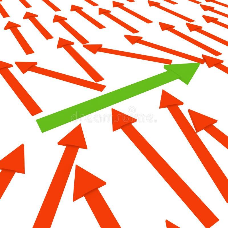 Auffassungen des Erfolgs stock abbildung