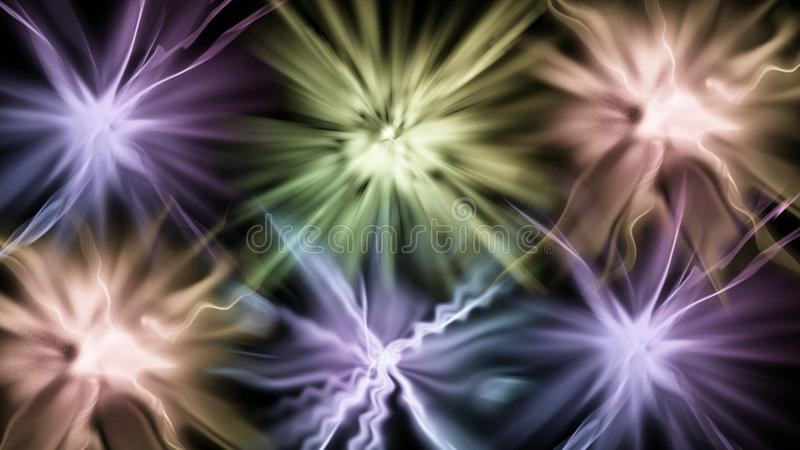 Aufflackern des bunten Lichtes vektor abbildung