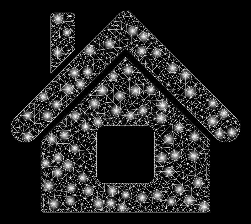 Aufflackern-Maschen-2D Haus mit Aufflackern-Stellen vektor abbildung