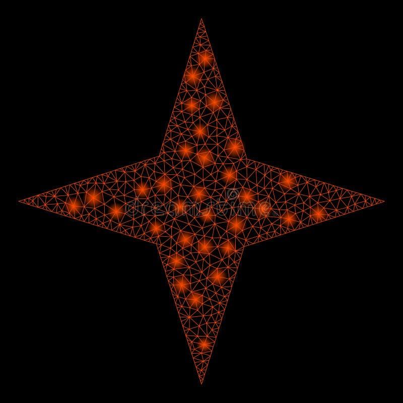Aufflackern-Maschen-2D Raum-Stern mit Aufflackern-Stellen vektor abbildung