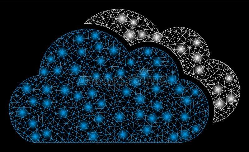 Aufflackern-Maschen-2D Wolken mit Aufflackern-Stellen lizenzfreie abbildung
